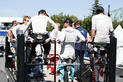 Nelson Piquet Jr., NEXTEV TCR Formula E Team, pendant la parade des pilotes