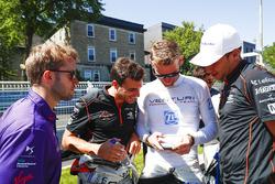 Sam Bird, DS Virgin Racing, Jérôme d'Ambrosio, Dragon Racing, Maro Engel, Venturi, ve Loic Duval, Dr