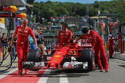 La voiture de Kimi Raikkonen, Ferrari