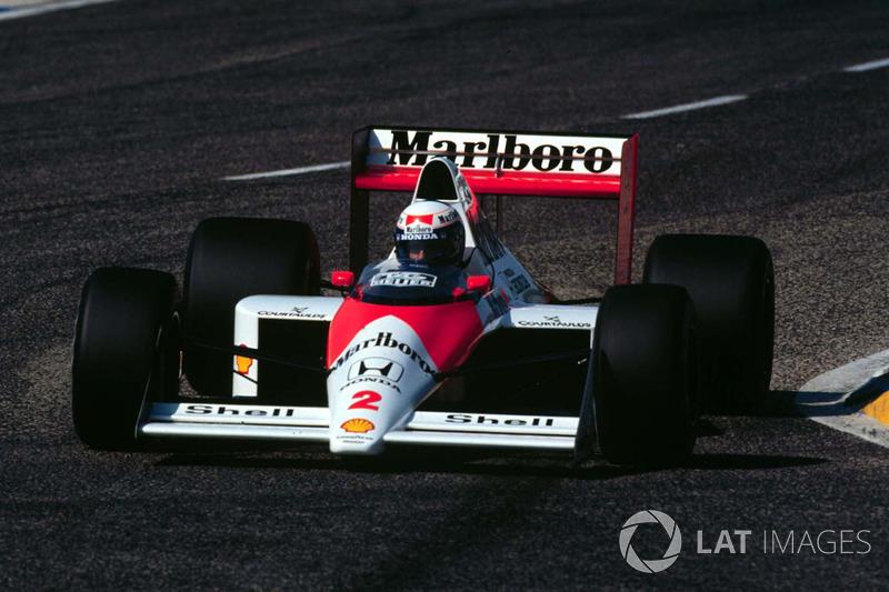 25º Alain Prost, McLaren MP4/5, Le Castellet 1989. Tiempo: 1:07.203