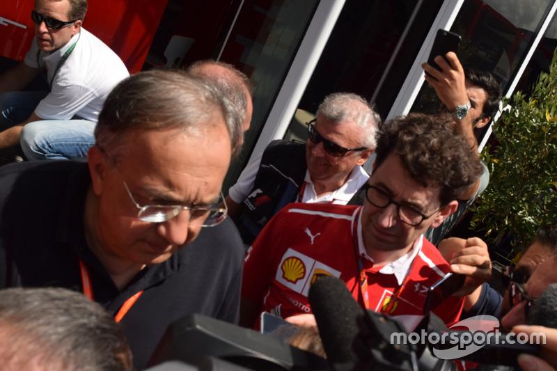 Mattia Binotto, Scuderia Ferrari, Sergio Marchionne, Presidente Ferrari y CEO Fiat
