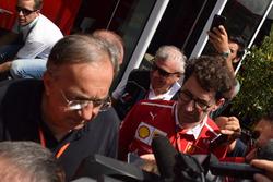 Mattia Binotto, Scuderia Ferrari, Sergio Marchionne, Presidente Ferrari e CEO di Fiat Chrysler Autom