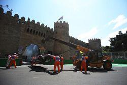 Le crash de Sergio Perez, Sahara Force India VJM10