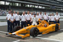 Fernando Alonso, Andretti Autosport Honda and team official qualifying portrait