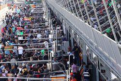 Fans en pitwalk
