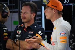 Max Verstappen, Red Bull Racing et Christian Horner, directeur de Red Bull Racing
