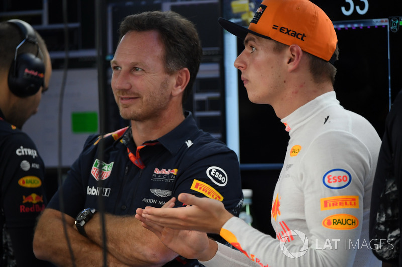 Max Verstappen, Red Bull Racing and Christian Horner, Red Bull Racing Team Principal