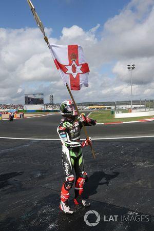 Le vainqueur et Champion du monde 2017 Jonathan Rea, Kawasaki Racing