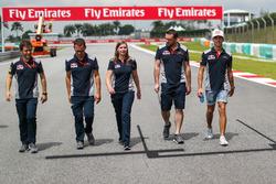 Pierre Gasly, Scuderia Toro Rosso walks the track
