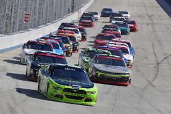 Ryan Blaney, Team Penske Ford, William Byron, JR Motorsports Chevrolet, Justin Allgaier, JR Motorsports Chevrolet