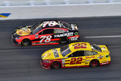 Martin Truex Jr., Furniture Row Racing Toyota, Joey Logano, Team Penske Ford