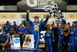 Chase Elliott, Hendrick Motorsports Chevrolet, celebrates in Victory Lane after winning the Monster Energy NASCAR Cup Series Can-Am Duel 1