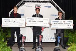 USF2000 champion Oliver Askew, Indy Lights champion Kyle Kaiser, Pro Mazda champion Victor Franzoni