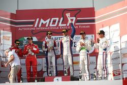 Podio gara 1 SGT3, Beretta-Frassineti (Ombra Srl,Lamborghini Huracan-S.GT3 #12), Malucelli-Cheever (
