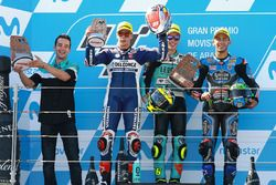 Podium: race winner Joan Mir, Leopard Racing, second place Fabio Di Giannantonio, Del Conca Gresini Racing Moto3, third place Enea Bastianini, Estrella Galicia 0,0