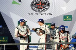 Podium: winners Timo Bernhard, Earl Bamber, Brendon Hartley, Porsche Team, second place Neel Jani, Andre Lotterer, Nick Tandy, Porsche Team