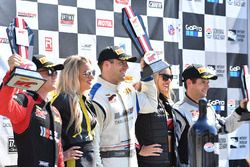 Podium: race winner Michael Cooper, Cadillac Racing, second place Patrick Long, Wright Motorsports, third place Pierre Kaffer, Magnus Racing