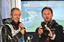 Mark Thompson, Getty Images Photographer and Christian Horner, Red Bull Racing Team Principal with c
