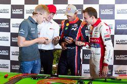 Ott Tänak, M-Sport, Jari-Matti Latvala, Toyota Racing, Andreas Mikkelsen, Hyundai Motorsport, Stéphane Lefebvre, Citroën World Rally Team