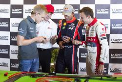 Ott Tänak, M-Sport, Jari-Matti Latvala, Toyota Racing, Andreas Mikkelsen, Hyundai Motorsport, Stépha