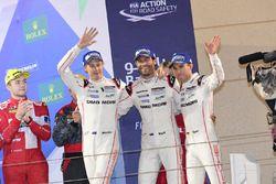 LMP1 podium: third place #1 Porsche Team Porsche 919 Hybrid: Timo Bernhard, Mark Webber, Brendon Hartley