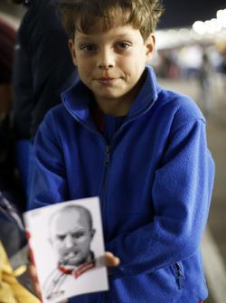 Een jonge fan