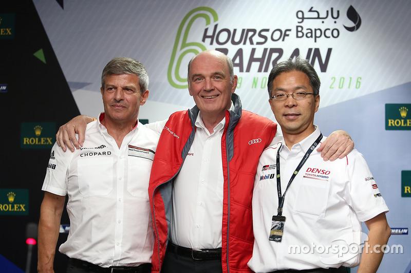 Fritz Enzinger (Porsche), Dr. Wolfgang Ullrich (Audi), Toshio Sato (Toyota)