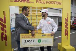 DHL Award pour José María López, Citroën World Touring Car Team, Citroën C-Elysée WTCC