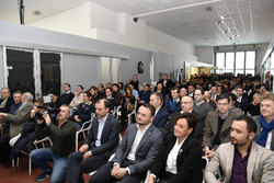 Media and guest at the Gresini Racing Team presenation