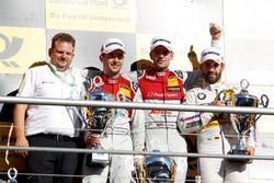 Podium: Race winner Jamie Green, Audi Sport Team Rosberg, Audi RS 5 DTM, second place Mike Rockenfel