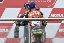 Podio: Cal Crutchlow, Team LCR Honda, Maverick Viñales, Yamaha Factory Racing
