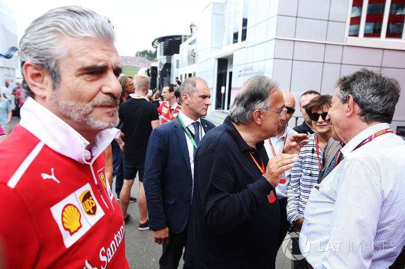 Maurizio Arrivabene, Takım Patronu, Ferrari, Sergio Marchionne, CEO, Fiat Chrysler ve Ferrari
