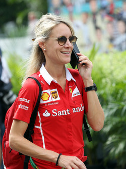 Britta Roeske, Pressesprecherin, Sebastian Vettel, Ferrari