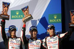 Third place: Stéphane Sarrazin, Sébastien Buemi, Kazuki Nakajima, Toyota Gazoo Racing