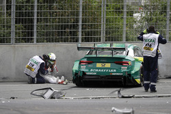 Mike Rockenfeller, Audi Sport Team Phoenix, Audi RS 5 DTM after the crash