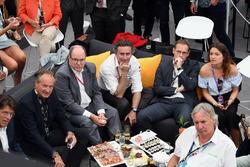 Alejandro Agag, Formula E CEO and Prince Albert of Monaco in the eMotion Club