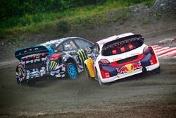 Андреас Баккеруд, Hoonigan Racing Division, Ford Focus RS RX, и Себастьен Лёб, Team Peugeot Hansen,