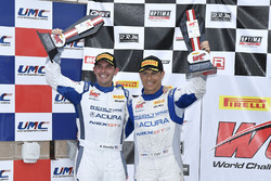 Podium: second place Ryan Eversley, Tom Dyer, RealTime Racing