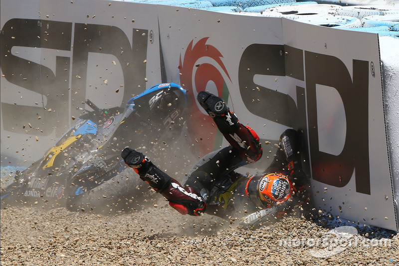 Tito Rabat, 7 crashes