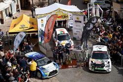 La cerimonia di premiazione del 50° Rally Elba