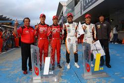 GT500 winner:#38 ZENT CERUMO LC500, GT300 winner:#51 JMS P.MU LMcorsa RC F GT3