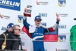 Podium: second place Egor Orudzhev, AVF