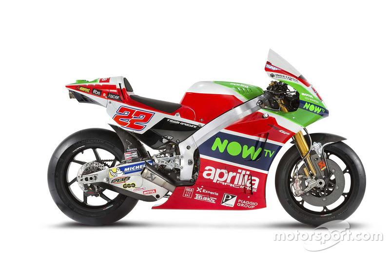Moto de Sam Lowes, Aprilia Racing Team Gresini