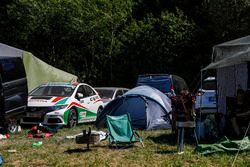 Honda Civic in a campground