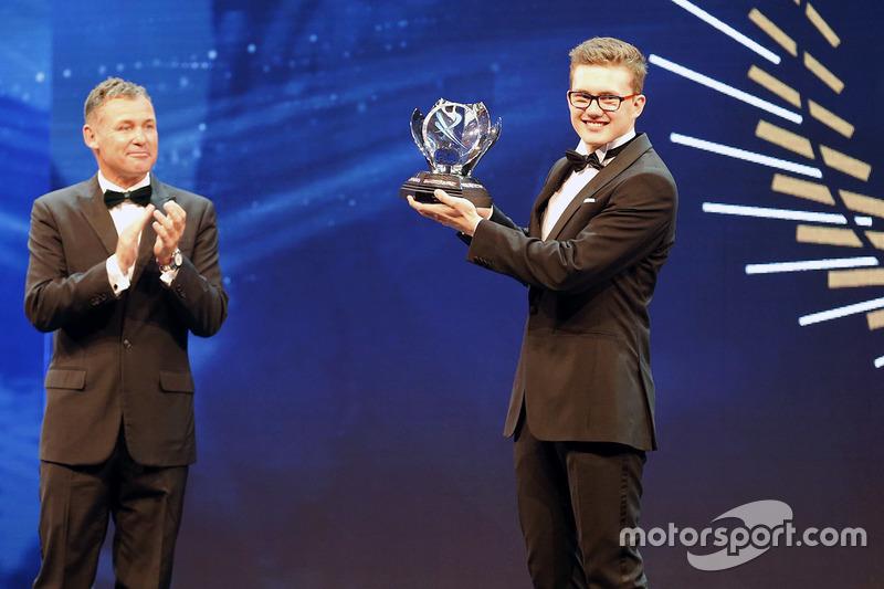 Tom Kristensen and Rookie of the Year Kevin Hansen, Peugeot Hansen Academy