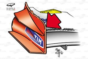 Ferrari F2001 front wing endplate (specification changed in Austria)
