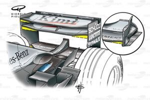 McLaren MP4-17D 2003 rear wing and front wing detail