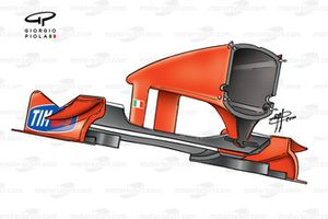 Ferrari F1-2000 (651) 2000 Japan front wing