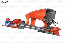 Aileron avant de la Ferrari F1-2000 (651), Japon