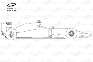 Sauber C34 side view